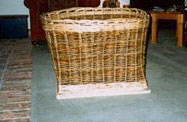 Log Basket with Wooden Base